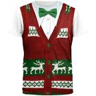 Ugly Christmas Sweater Vest Sublimated Adult T-Shirt
