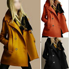 2015 New Fashion Women Slim Wool Trench Warm Coat Double Breasted Jacket Outwear