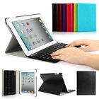 Leather Stand Case Cover With ABS Bluetooth Keyboard For iPad Air mini 2 ipad 3