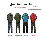 Premium New Men Outdoor Waterproof Sports Hood Climbling Jacket Pants Suit Coat