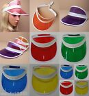 PACK OF 3 / 6 SUNVISOR HEADBAND SUN VISOR SUMMER SUN PROTECTION, CLUBBING, PARTY