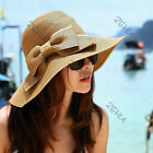 WomenCap Bowknot Sun Hat Traveling Floppy Straw Hat Wide Brimmed economic novety