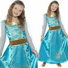 Girls Medieval Princess Costume Dress Maid Marion Tudor Queen Book Week Outfit