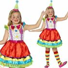 Girls Deluxe Clown Costume Circus Book Week Fancy Dress Child Kids Outfit 4-12