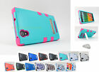 for ZTE ZMax Z970 Tmobile TUFF Hard/Soft Dual Layer Kickstand Case Cover+PryTool