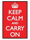 New Gloss Black Framed Keep Calm And Carry On Poster