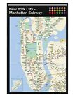 New York Gloss Black Framed Manhattan Subway Map Maxi Poster 61x91.5cm