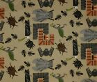 "SEW FUN!!! BUGS & SPORTS flannel 100% cotton fabric for boys? 1 yd x 44"" wide"