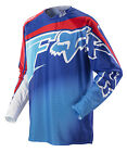 Fox Racing 360 Flight Blue Red Dirt Bike Jersey Motocross MX ATV 2014