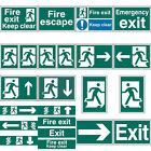Fire Exit Evacuation Self Adhesive Office Door Workplace Safety Signs - 2 Sizes