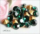 Swarovski Vintage EMERALD 1100 pointed Crystal Chatons GF