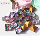 Last 17 Swarovski 7mm 5mm IRIS Crystal Square Clear Pink Green Blue GF 4400 4410