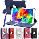 360 ROTATING FLIP PU LEATHER CASE COVER POUCH FOR SAMSUNG GALAXY TAB 3 TABLET