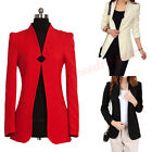 New Fashion Women Slim Solid Color Shrug Long Sleeve Small Suit Jacket Coat