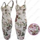 NEW LADIES FLORAL PRINT STRAPPY TOP DRESS WOMEN KNEE LENGTH LOOK BODYCON DRESSES