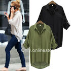█ █ Women's Chiffon Button Down Shirt Casual Long Sleeve T Shirt Tops Blouse Tee