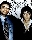 ELVIS PRESLEY WITH MUHAMMAD ALI 01 (MUSIC AND BOXING) SIGNED PHOTO PRINT 01A
