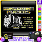 Concertina Squeeze Harder - Sheet Music & Accessories Custom Bag by MusicaliTee
