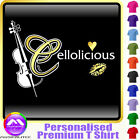 Cello Cellolicious Kiss - Personalised Music T Shirt 5yrs - 6XL by MusicaliTee