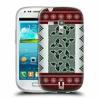 HEAD CASE KNITTED CHRISTMAS GEL CASE FOR SAMSUNG GALAXY S3 III MINI I8190