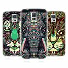 HEAD CASE AZTEC ANIMAL FACES SERIES 2 SILICONE GEL CASE FOR SAMSUNG GALAXY S5