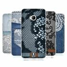 HEAD CASE JEANS AND LACES SILICONE GEL CASE FOR HTC ONE