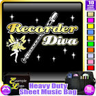Recorder Diva Fairee - Sheet Music & Accessories Personalised Bag by MusicaliTee