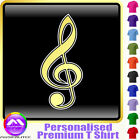 Music Fun Treble Clef - Personalised Music T Shirt 5yrs-6XL MusicaliTee 2