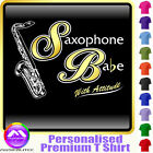 Sax Tenor Babe With Attitude - Custom Music T Shirt 5yrs - 6XL by MusicaliTee
