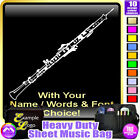 Oboe Picture With Your Words - Sheet Music & Accessories Bag by MusicaliTee