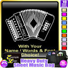Melodeon Picture With Your Words - Sheet Music & Accessories Bag by MusicaliTee