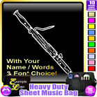 Bassoon Picture With Your Words - Sheet Music & Accessories Bag by MusicaliTee