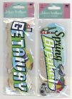 U CHOOSE  Jolee's SPRING BREAKERS TITLE GETAWAY TITLE 3D Stickers beach