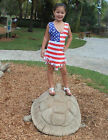 Patriotic American Flag Kids Girls Franges 4th of July Girl Dress Coverup 014