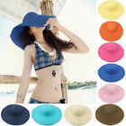New Fashion Women's Wide Brim Summer Beach Sun Hat Floppy Bohemia Straw Cap