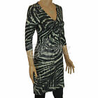 Ladies BHS Animal Print Stretch Jersey Tunic Dress Smart Casual Size UK 8 10 12