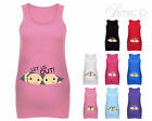 TWINS LET US OUT FUN CUTE DESIGNER MATERNITY VEST TANK TOP BABY SHOWER GIFT
