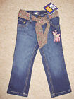 GIRLS GORGEOUS STRAIGHT LEG JEANS WITH ADJ WAIST AGE 12 MONTHS - 6 YEARS BNWT
