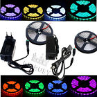 5M 3528 5050 RGB White SMD 60led/M Flexible LED Strip Light 12V Power Supply New