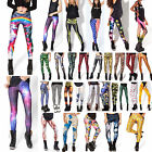 Women Skinny Leggings 3D Graphic Printed Stretchy Jeggings Pencil Tight Pants