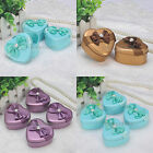 12PCS Heart Wedding Party Favor Boxes Tin Birthday Gift Candy Box Baby Shower