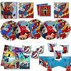 Spiderman Superhero  Party Kits Party Tableware! Fast Free Postage!!