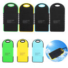 5000mAh Dual USB Portable Solar Panel Battery Charger Power Bank For Cell Phone