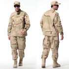 Desert Tricolor Military Camo Camouflage Suit Airsoft Uniform Sets-Jacket Pant