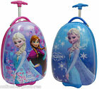 KIDS CHILD GIRLS FROZEN SUITCASE CABIN TROLLEY WHEELED TRAVEL LUGGAGE 2COLOURS