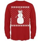 Big Snowman Ugly Christmas Sweater Red Long Sleeve T-Shirt