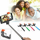 Wired Shutter Release Handheld Selfie Stick Monopod for iPhone 6 5 Samsung S6 S5