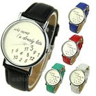 New Fashion Women's Men's Wrist Watches Funny Comment Who Cares Im Already Late