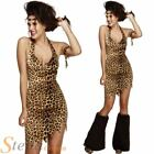 Ladies Sexy Fever Cavewoman Cave Girl Fancy Dress Costume Outfit & Leg Covers