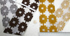 Vintage upholstery fabric trim 9 cm 3.5 inches wide BROWN or YELLOW by the metre